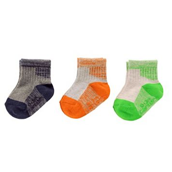Baby / Toddler Boy Carter's 3-pk. Space-Dyed Ankle Socks