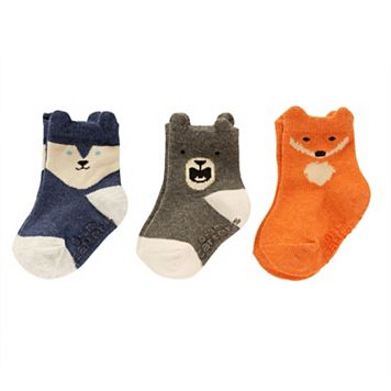 Baby / Toddler Boy Carter's 3-pk. Animal Face Ankle Socks