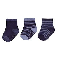 Baby / Toddler Boy Carter's 3-pk. Striped Navy Crew Socks