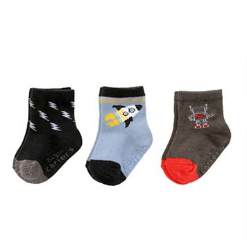Baby / Toddler Boy Carter's 3-pk. Robot, Spaceship & Lightning Bolt Crew Socks