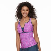 Women's Free Country Bust Enhancer Racerback Tankini Top