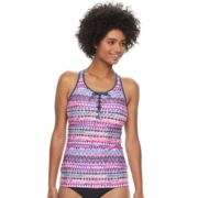 Women's Free Country Strappy Lace-Up Tankini Top