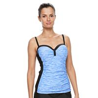 Women's Free Country Bust Enhancer Underwire Tankini Top