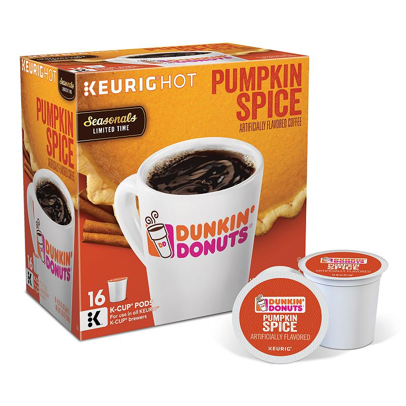 Skip the pumpkin patch, and go for the pumpkin pods this fall – with Dunkin' Donuts® Pumpkin Spice Flavored K-Cup® Pods, available now! Flavored with pumpkin, nutmeg, and cinnamon flavors, this fall favorite is as delicious as it is aromatic. Bring 'em home today, and enjoy them all season long.