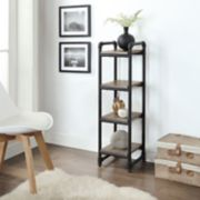 Neu Home Rustic Pipe 4-Tier Shelf Organizer