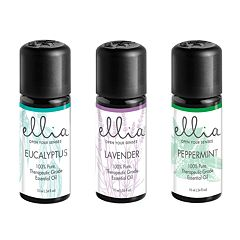 Ellia by HoMedics Eucalyptus, Lavender, & Peppermint Essential Oils 3-piece Set