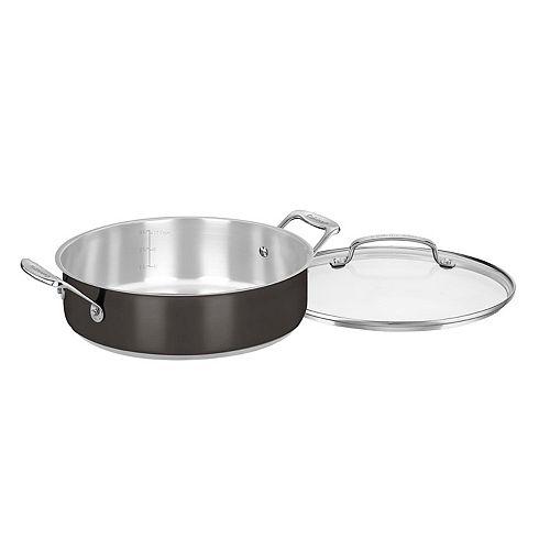 Cuisinart Black Stainless Steel 4-qt. Casserole Pan