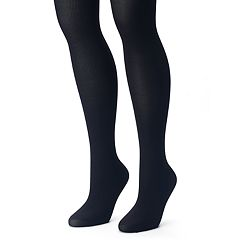 Plus Size Apt. 9® 2 pkRibbed & Solid Tights