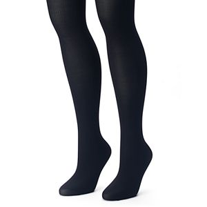 Plus Size Apt. 9® 2-pk. Ribbed & Solid Tights