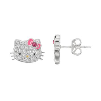 Hello Kitty® Kid's Crystal Stud Earrings