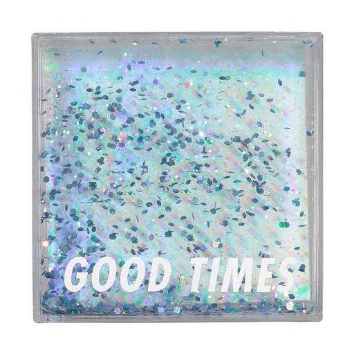 """Good Times"" Glittery 4"" x 4"" Photo Frame"