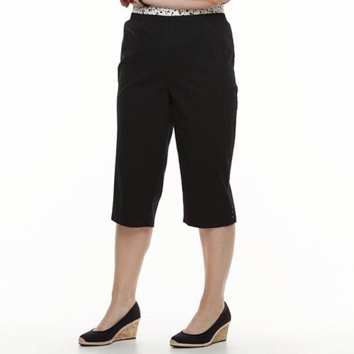 Plus Size Croft & Barrow® Lace-Up Capri Jeans