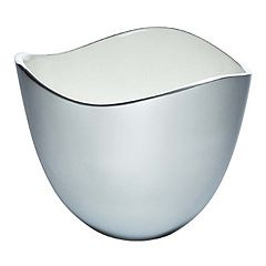 Savora 10-in. White Alloy Serving Bowl