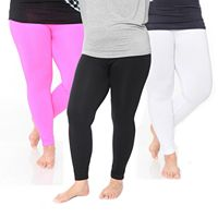 Plus Size White Mark 3-Pack Solid Leggings