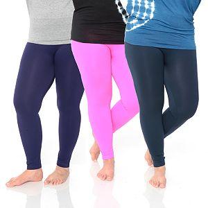 5cef37907e2 Sale.  76.99. Regular.  110.00. Plus Size White Mark 3-Pack Solid Leggings