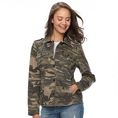 Juniors' Sebby Military Style Twill Jacket