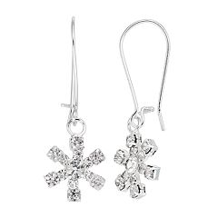 Snowflake Nickel Free Drop Earrings