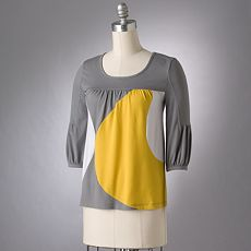ELLE Colorblock Knit Tunic :  downtown dress on sale butterfly sleeves