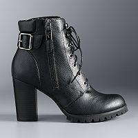 Simply Vera Vera Wang Catania Women's High Heel Combat Boots