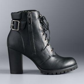 Simply Vera Vera Wang 10th Anniversary Catania Women's High Heel Combat Boots