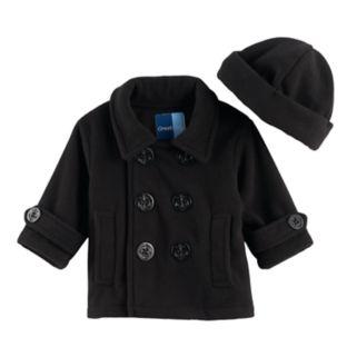 Baby Boy Great Guy 2-pc. Peacoat Midweight Jacket & Hat Set