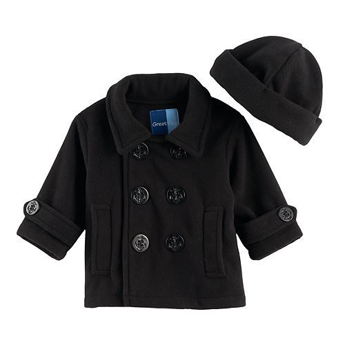 Baby Boy Great Guy 2-pc. Peacoat Midweight Jacket   Hat Set 6824a0e00