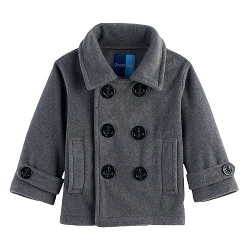 Baby Boy Great Guy 2-pc. Peacoat Midweight Jacket & Hat Set