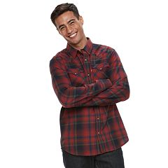 Men's Levi's® Flannel Western Button-Down Shirt