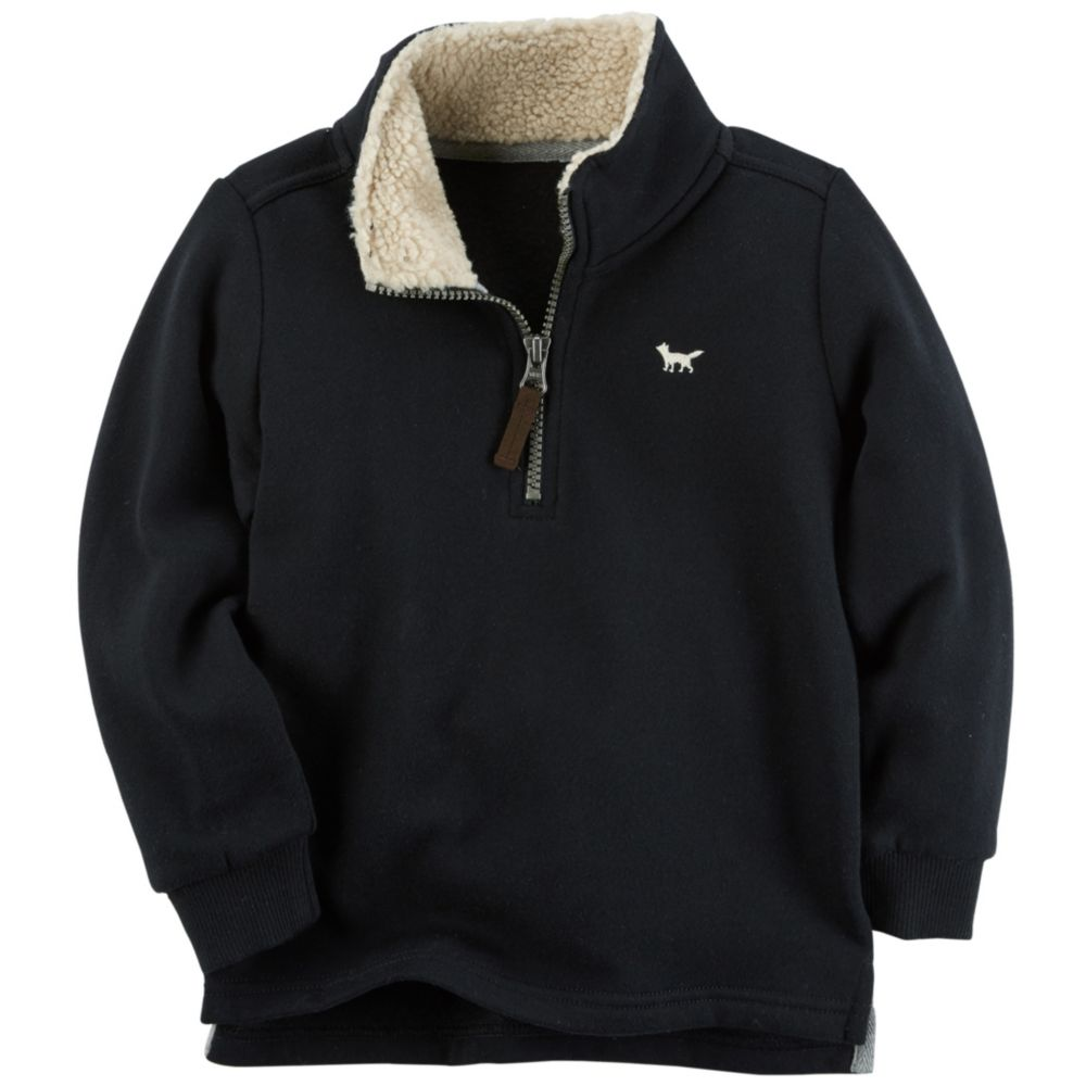 Boy Carter's 1/4-Zip Sherpa Fleece Pullover