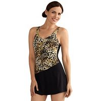 Women's Amoena Nauru Leopard Print Swim Dress
