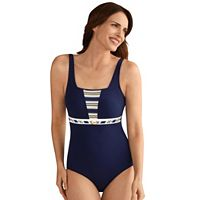 Women's Amoena Samos Nautical One-Piece Swimsuit