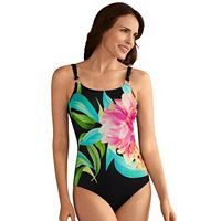 Women's Amoena Verde Floral One-Piece Swimsuit