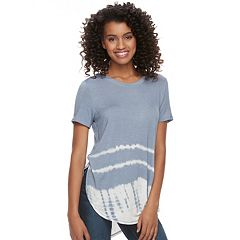 Juniors' Mudd® Tie-Dye Shirttail Tee