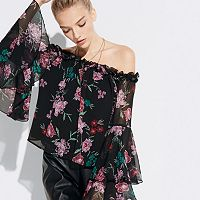 k/lab Floral Off-Shoulder Top