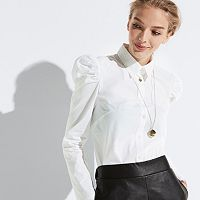 k/lab Puff Sleeve Button-Down Shirt