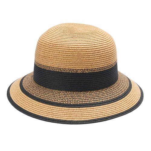 5203e20e376b0 Women s SONOMA Goods for Life™ Inset Stripe Cloche Hat