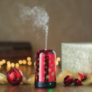 Candle Warmers Etc. Red Snowfall Color-Changing Essential Oil Diffuser