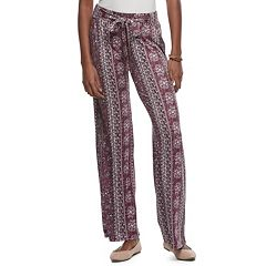 Juniors' Joe B Wide-Leg Tie Front Pants