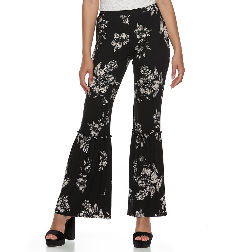 Juniors' About A Girl Ruffle Flared Soft Pants