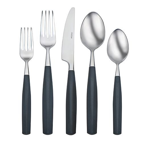 Oneida Terrace Licorice 20-pc. Flatware Set