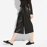 k/lab Faux-Leather Culottes