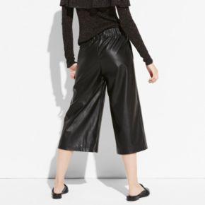 k/lab Faux-Leather Culottes