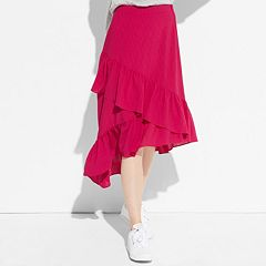 k/lab Asymmetrical Ruffle Skirt