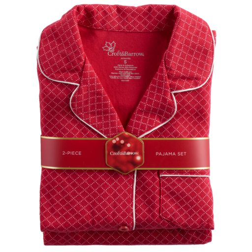 Plus Size Croft & Barrow® Pajamas: Notch Collar PJ Set