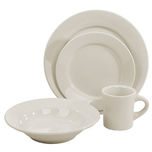 Buffalo China 4-pc. Place Setting Dinnerware Set