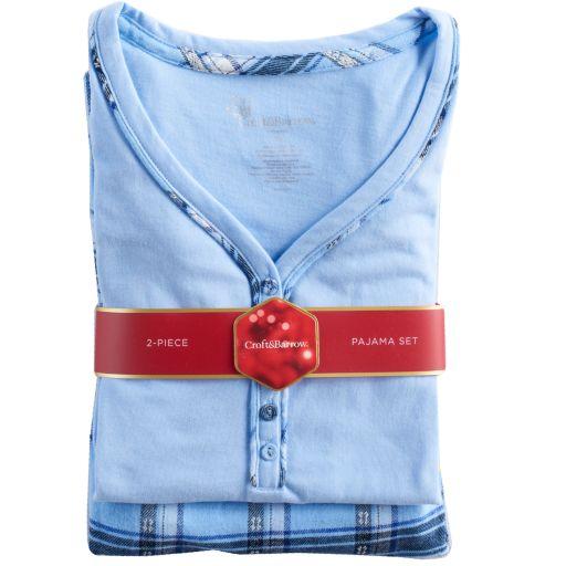 Women's Croft & Barrow® Pajamas: Henley & Flannel Pants PJ Set