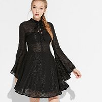 k/lab Sparkly Tie-Neck Dress