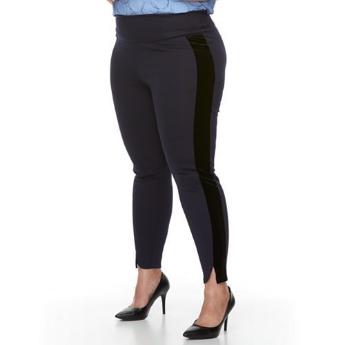 Plus Size Apt. 9® Tuxedo Stripe Ponte Leggings