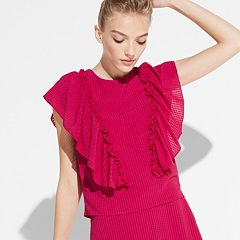 k/lab Ruffle Cap Sleeve Top