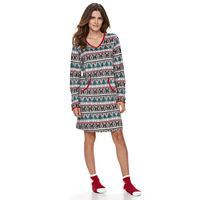 Women's Croft & Barrow® Pajamas: Velour Sleep Shirt & Socks PJ Set